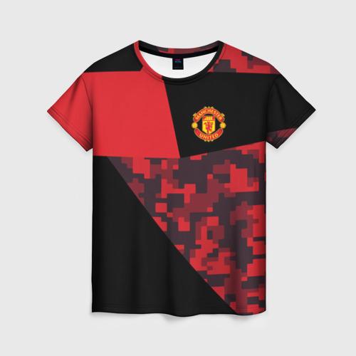 Женская футболка 3D Manchester United 2018 Sport