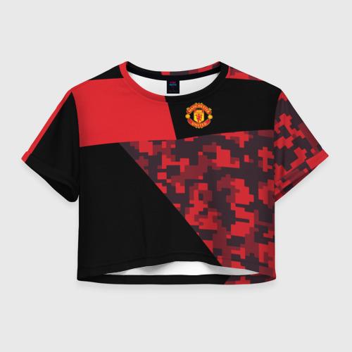 Женская футболка Crop-top 3D Manchester United 2018 Sport