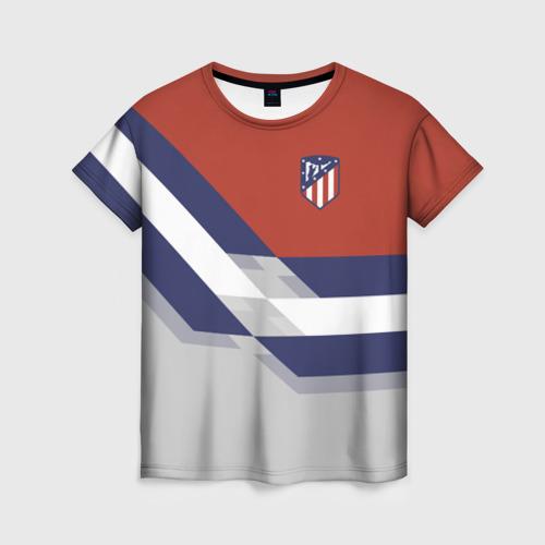 Женская футболка 3D Атлетико Мадрид 2018
