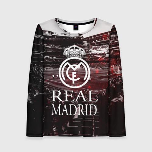 Женский лонгслив 3D REAL MADRID
