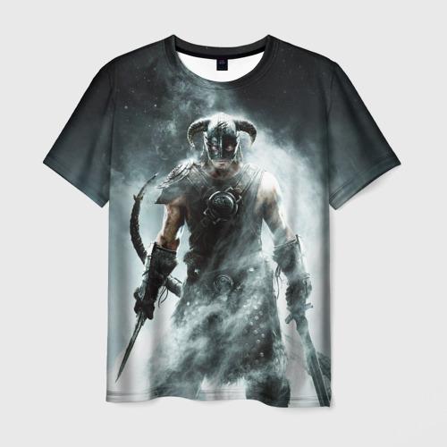 Мужская футболка 3D Skyrim