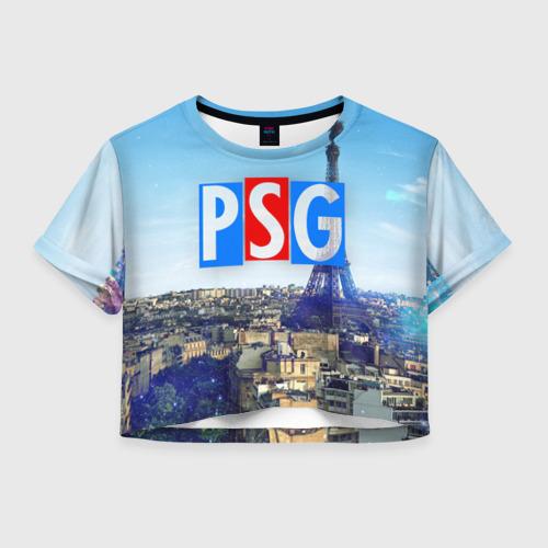 Женская футболка Crop-top 3D PSG3
