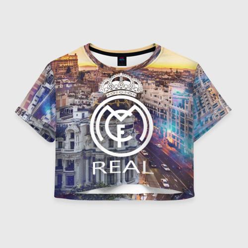 Женская футболка Crop-top 3D Real 2