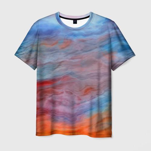 Мужская футболка 3D Цветной космос