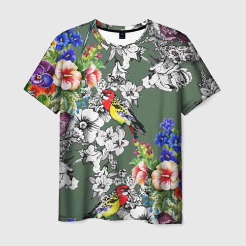 Мужская футболка 3D Райский остров