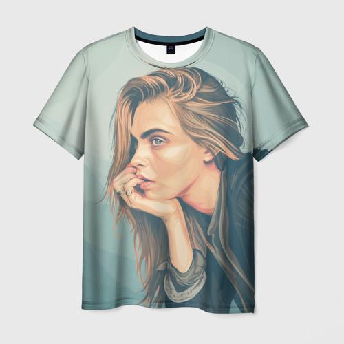 Мужская футболка 3D Cara Delevingne 3