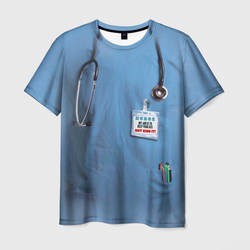 Мужская футболка 3D Костюм врача