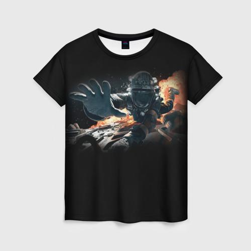 Женская футболка 3D Пространство