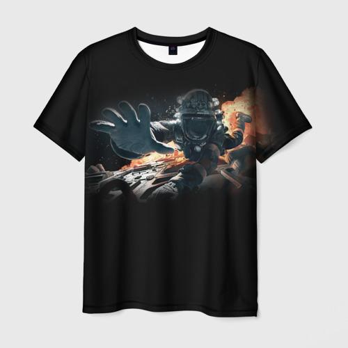 Мужская футболка 3D Пространство