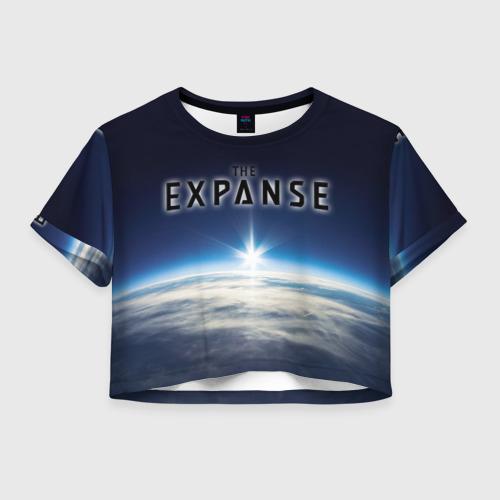 Женская футболка Crop-top 3D Пространство 2