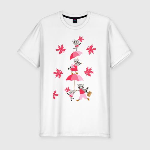 Мужская футболка хлопок Slim Осень