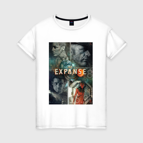 Женская футболка хлопок Пространство 5