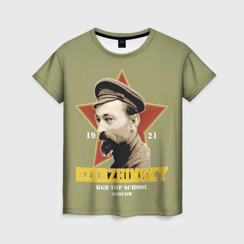 Женская футболка 3D Высшая школа КГБ