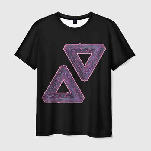 Мужская футболка 3D Треугольники Пенроуза