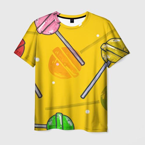 Мужская футболка 3D Чупа-Чупс