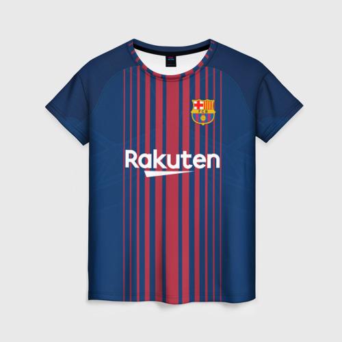 Женская футболка 3D Неймар Форма Барселона 2018