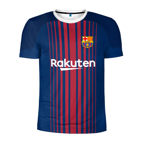 Мужская футболка 3D спортивная Неймар Форма Барселона 2018
