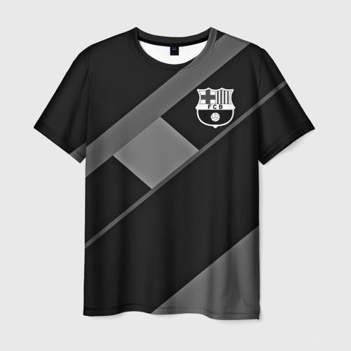 Мужская футболка 3D FC Barcelona gray collection