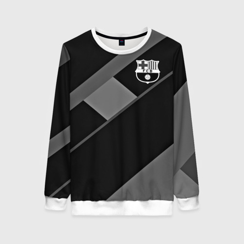 Женский свитшот 3D FC Barcelona gray collection
