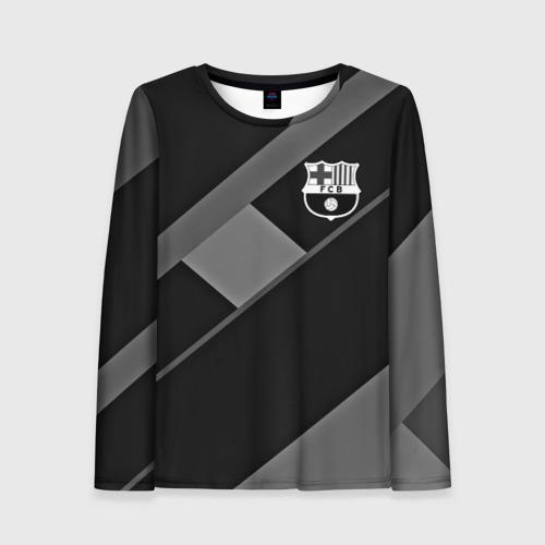 Женский лонгслив 3D FC Barcelona gray collection