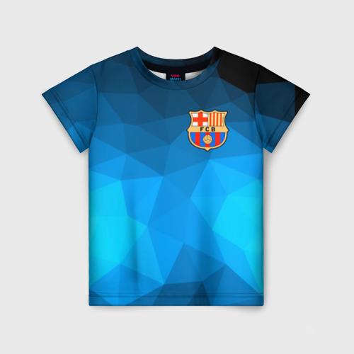 Детская футболка 3D FC Barcelona polygon 2018