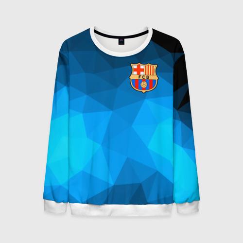 Мужской свитшот 3D FC Barcelona polygon 2018