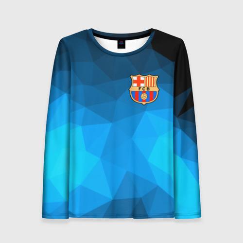 Женский лонгслив 3D FC Barcelona polygon 2018
