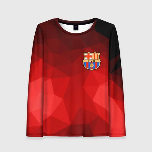 Женский лонгслив 3D FC Barcelona red polygon 2018