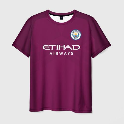 Мужская футболка 3D Манчестер Сити Форма Away 2018