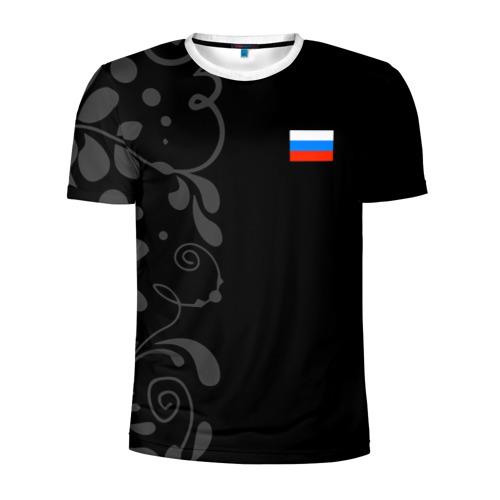 Мужская футболка 3D спортивная Russia - Black Collection
