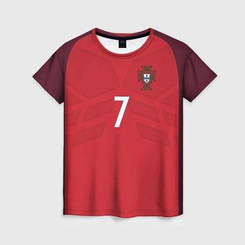 Женская футболка 3D Ronaldo 17-18
