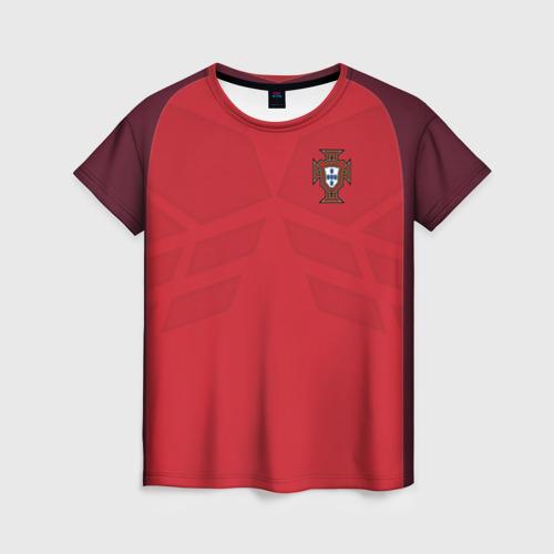 Женская футболка 3D Portugal 2018