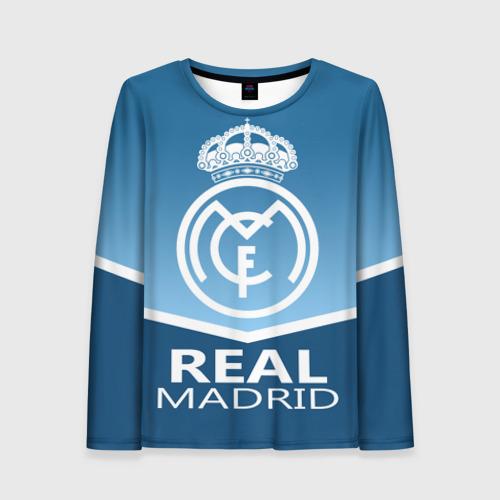 Женский лонгслив 3D Реал Мадрид