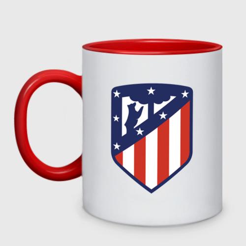 Кружка двухцветная Atletico Madrid
