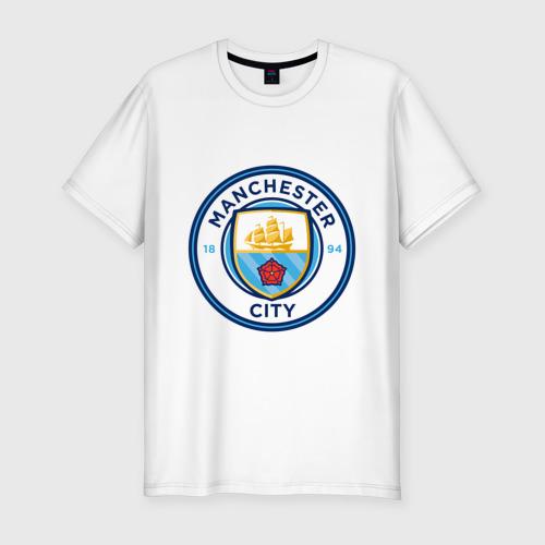 Мужская футболка хлопок Slim Manchester City