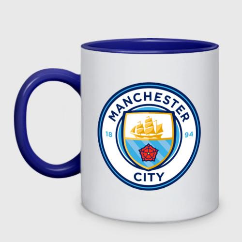 Кружка двухцветная Manchester City
