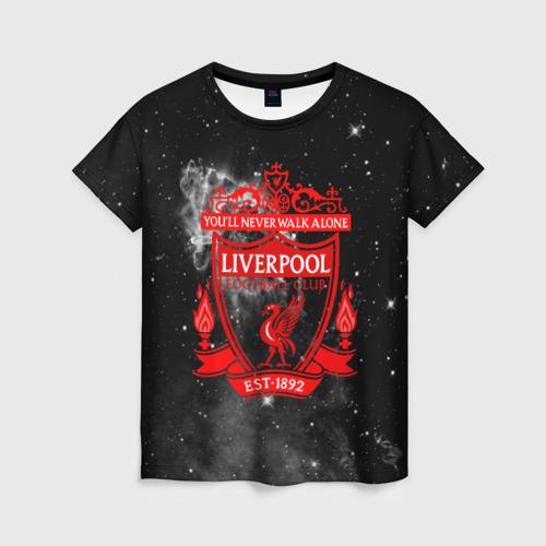 Женская футболка 3D FC LIVERPOOL