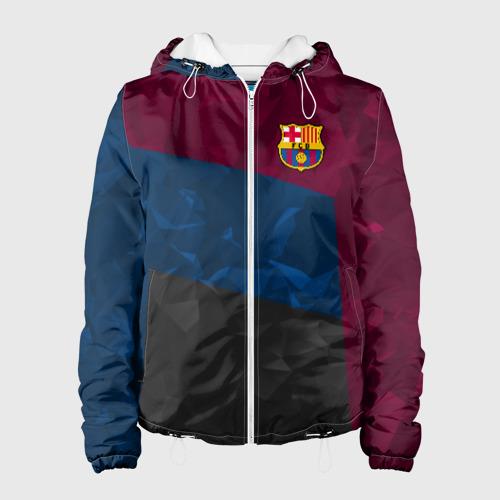 Женская куртка 3D FC Barcelona 2018 Abstract