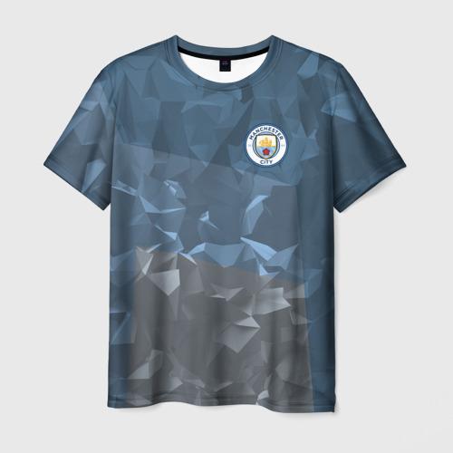 Мужская футболка 3D Manchester city 2018 Abstract
