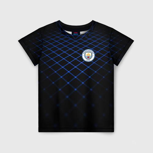 Детская футболка 3D Manchester city 2018 Line