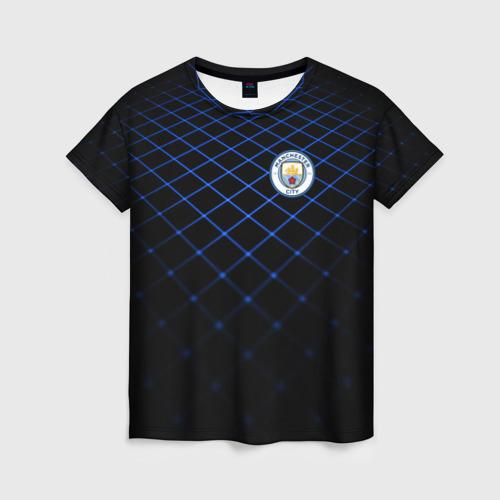 Женская футболка 3D Manchester city 2018 Line