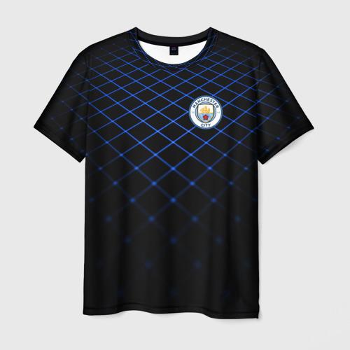 Мужская футболка 3D Manchester city 2018 Line