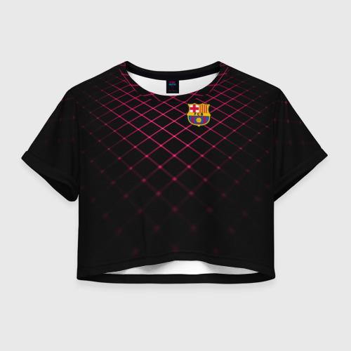 Женская футболка Crop-top 3D FC Barcelona 2018 Line