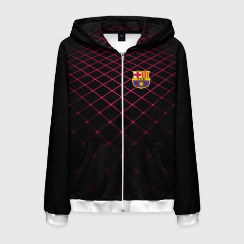 Мужская толстовка 3D на молнии FC Barcelona 2018 Line