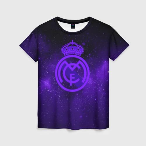 Женская футболка 3D FC Real Madrid(SPACE STYLE)