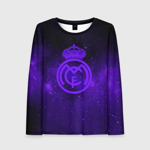 Женский лонгслив 3D FC Real Madrid(SPACE STYLE)