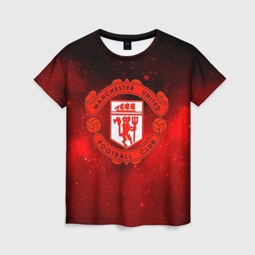Женская футболка 3D FC Манчестер