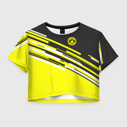 Женская футболка Crop-top 3D FC Borussia 2018 Sport
