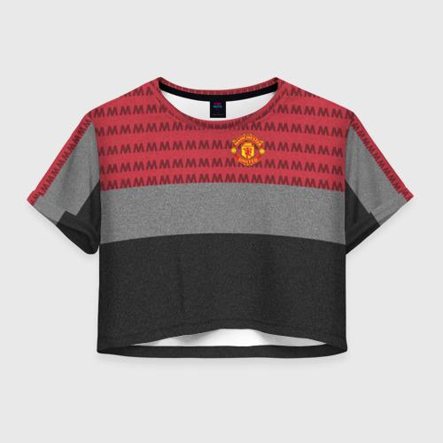 Женская футболка Crop-top 3D Manchester United Original