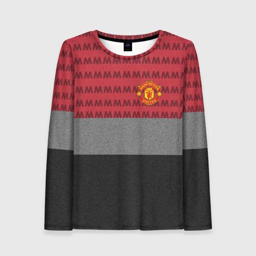 Женский лонгслив 3D Manchester United Original